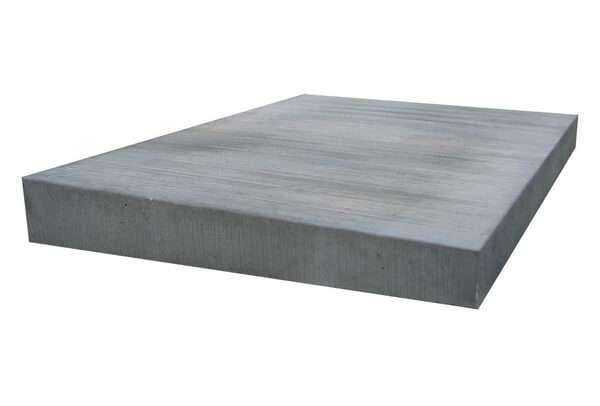 Mauerabdeckung Pultdach aus Betonwerkstein