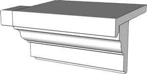 Fensterbank SLB 500 - Ausladung 85 mm
