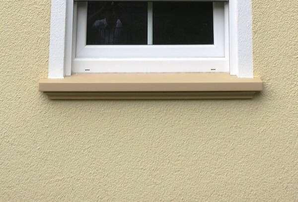 Maß - Fensterbrett SLB 541 mit Anstrich beige (auch anthrazit u.a. möglich)