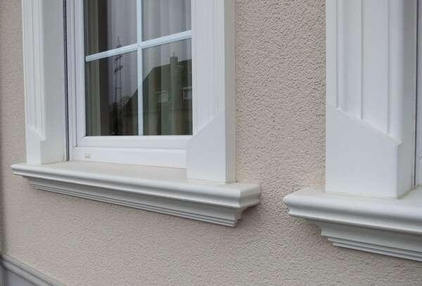 Fensterbrett SLB 570 aus Beton mit Zuschnitt für den Einbau
