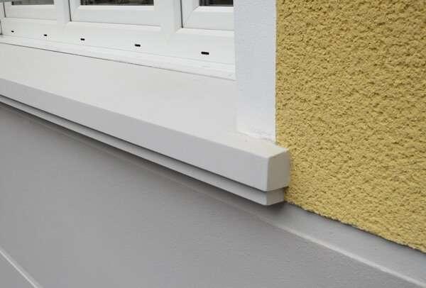 Moderne Außenfensterbank SLB 400 als Alternative zur Aluminium - Fensterbank
