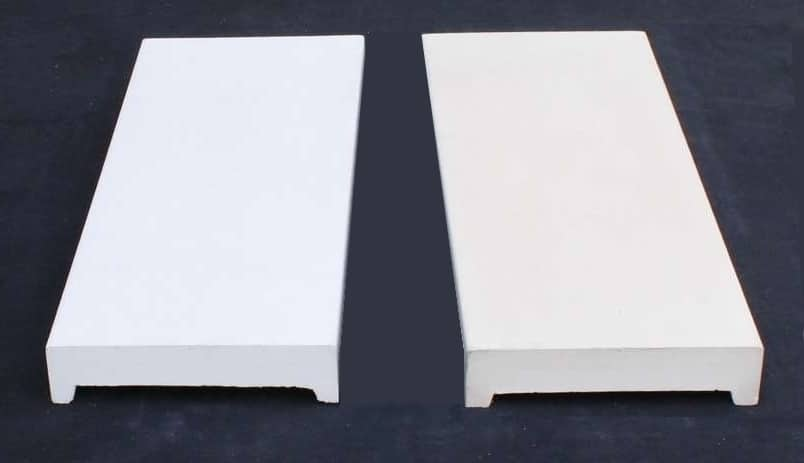 Flachdach Mauerabdeckungen in zementweiß oder beige-hell