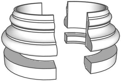 Basis B2 in vier Halbteilen